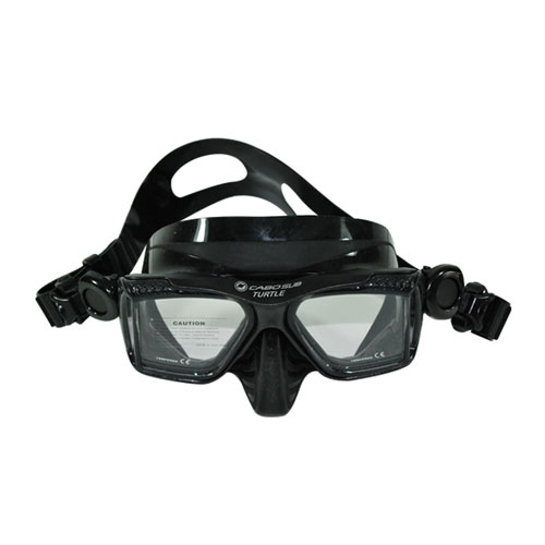 máscara de buceo y snorkeling negra Turtle