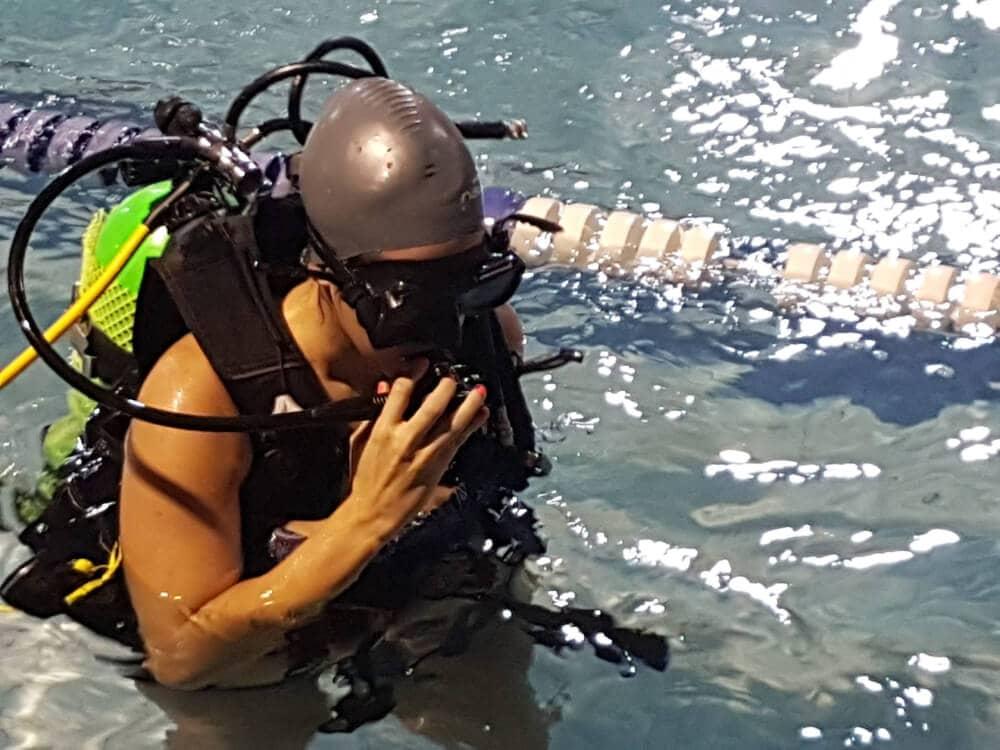 seguridad en nuestros cursos de buceo en Santiago